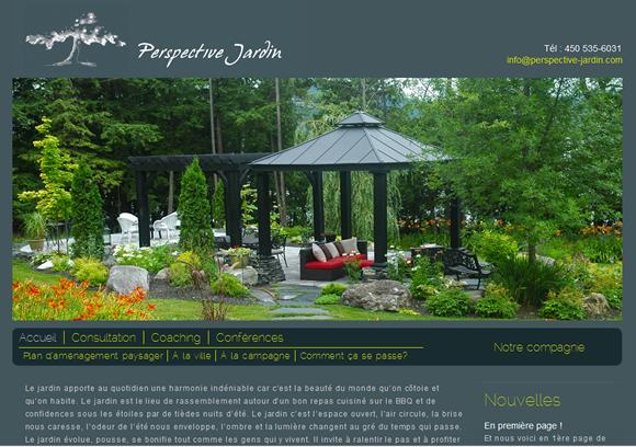 Conception site web perspective jardin